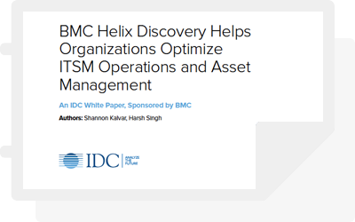 IDC: BMC Helix Discovery Helps Organizations Optimize ITSM Operations and Asset Management