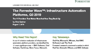 The Forrester Wave™: Infrastructure Automation Platforms, Q3 2019