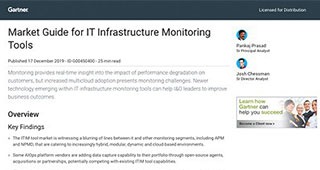 Gartner: Market Guide for IT Infrastructure Monitoring Tools