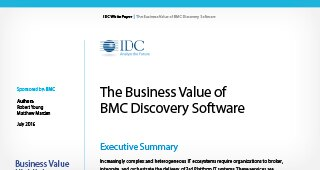IDC: The Business Value of BMC Discovery