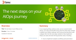 The Next Steps on Your AIOps Journey