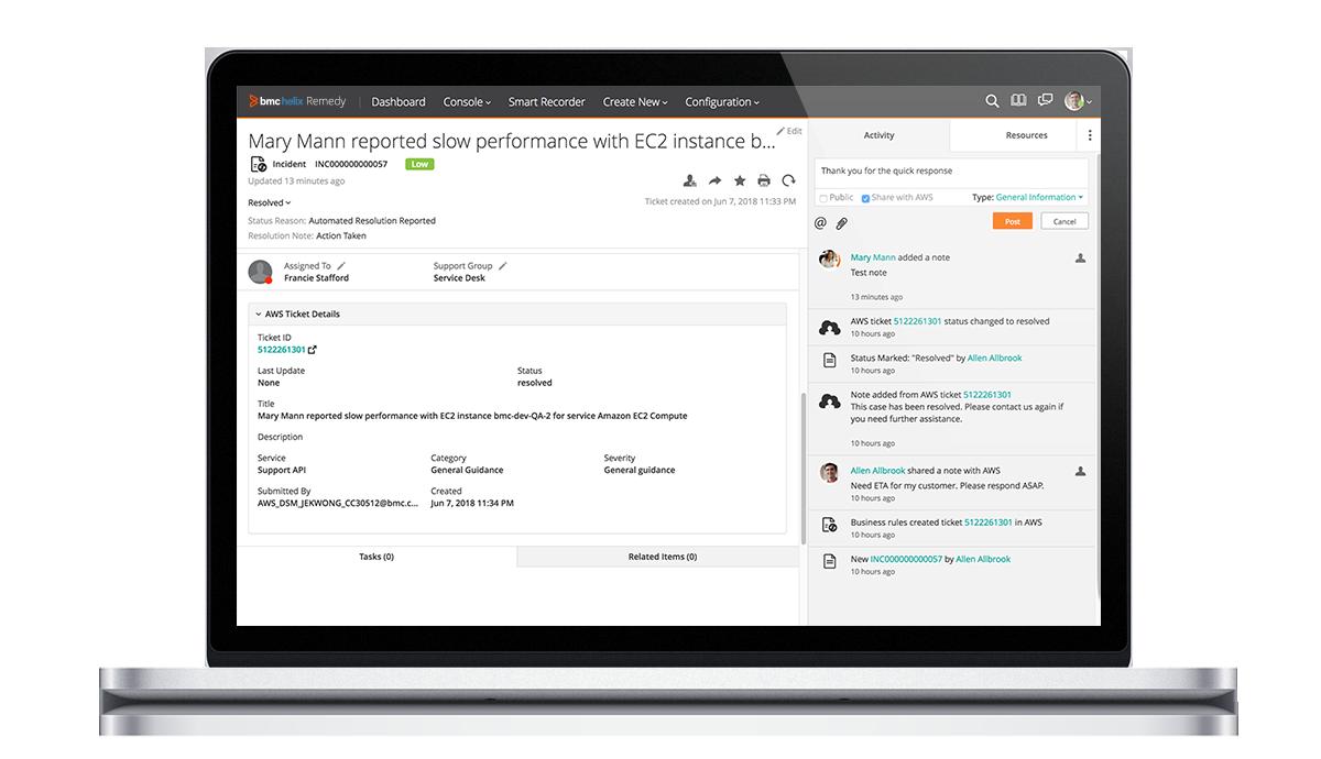 bmc helix remedy - it service management suite - bmc software