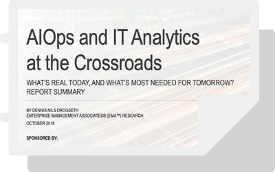 AIOps and IT Analytics at the Crossroads
